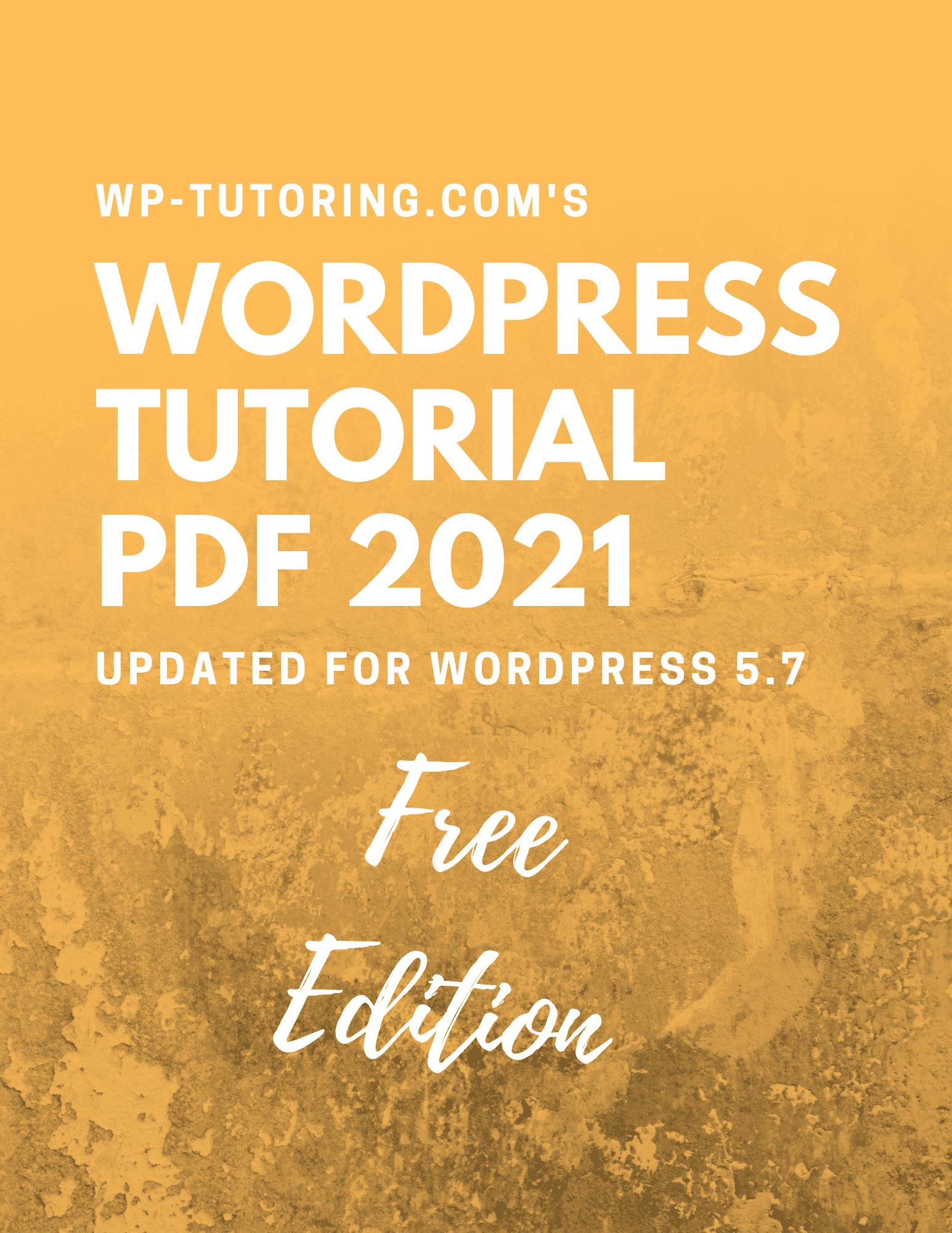 WordPress Tutorial PDF - Free